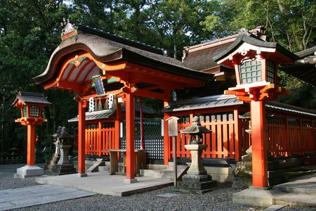 buddhist structures: Fushimi Inari, Kyoto, Japan Editorial