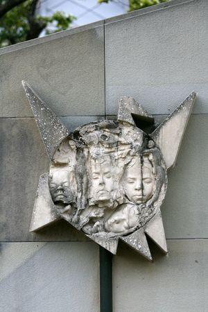 Rostros quemados - Parque de la Paz, Nagasaki, Jap�n  Foto de archivo - 3556913