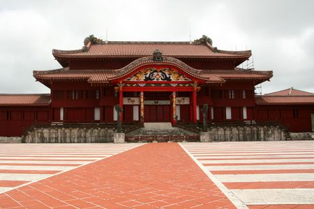 Shuri Castle, Naha , Okinawa, Japan Editorial
