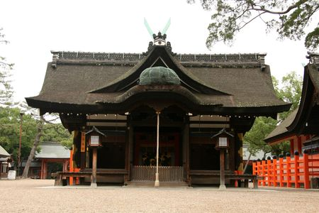 shrine: Sumiyoshi Taisha Shrine, Osaka, Japan Stock Photo