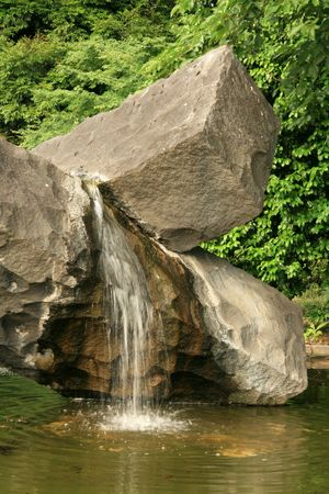 Waterfall - East Palace Gardens, Tokyo, Japan photo