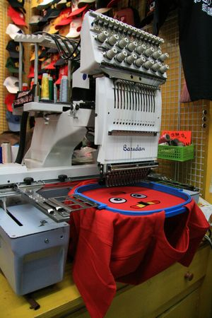 machines: T-Shirt Embroidery Machines - Asakusa, Tokyo City, Japan