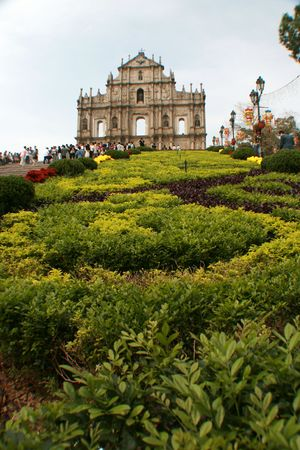 Ruins of St Pauls Cathedral, Macau photo