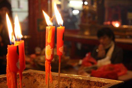 mimo: Man Mo Temple, Hong Kong  Foto de archivo