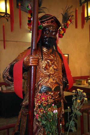 oldest: Man Mo Temple, Hong Kong Stock Photo