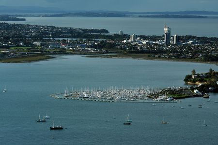 arial views: Ariel View of Auckland City, New Zealand