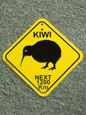 flightless bird: Kiwi Sign, New Zealand