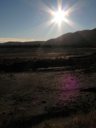 Te: Sun - Te Wahipounamu, UNESCO Conservation Area, New Zealand Stock Photo