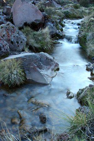 tongariro: River - Tongariro National Park, New Zealand Stock Photo