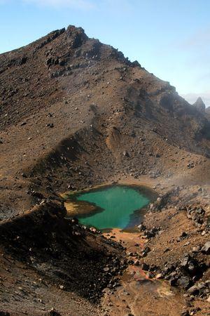 tongariro: Lago verde esmeralda - Parque Nacional de Tongariro, Nueva Zelanda  Foto de archivo