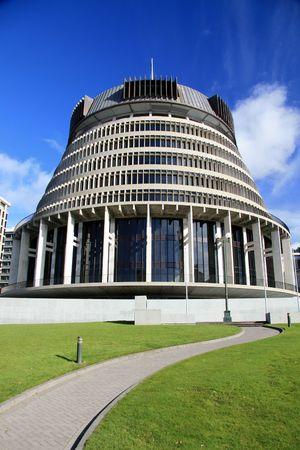 zealand: The Beehive, Wellington, New Zealand