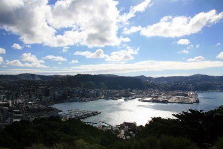 View from Mt Victoria, Wellington, New Zealand photo