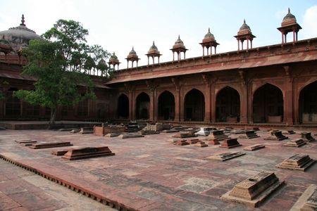 fatehpur: Grave Stone  Tomb Stone - Fatehpur Sikri, Agra, India