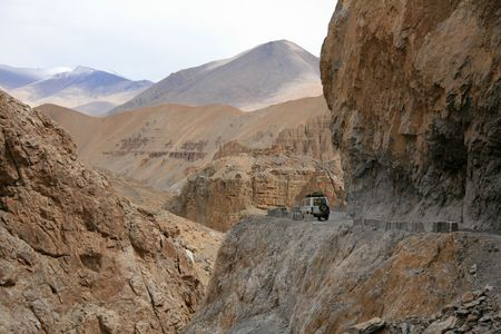 Crossing the Mountains Manali to Leh, India photo