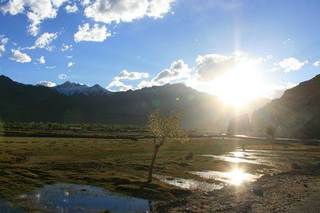 leh: Crossing the Mountains Manali to Leh, India Stock Photo