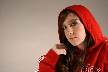 Sporty Attractive Young Caucasian Woman with Brown Hair photo