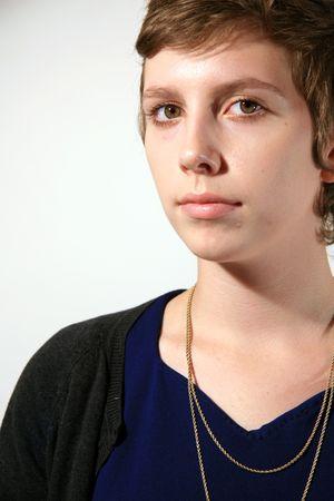 Portrait of Pretty Innocent Girl Stock Photo - 3620334