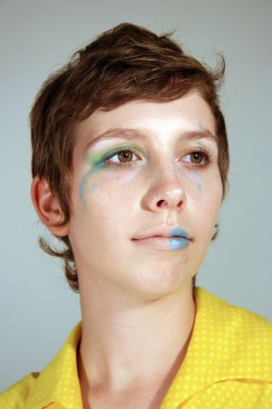 Clown Faced Cute Young Woman Stock Photo - 3623776