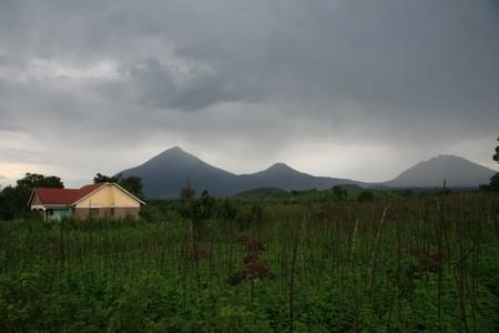 kisoro: Volcanoes in Kisoro, Uganda Stock Photo