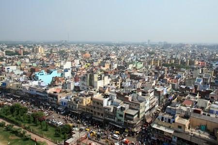 poverty india: The city of Delhi in India