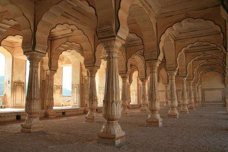 amber fort: Amber Fort - a historic site in Jaipur, India