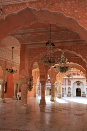 jaipur: City Palace - a historic building in the city of Jaipur, India