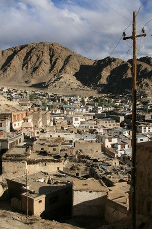 Leh in Ladakh - the far Norther part of India photo
