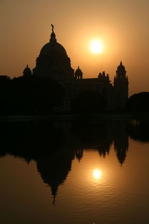 calcutta: Victoria Memorial a famous landmark in the city of Calcutta  Kolkata, India