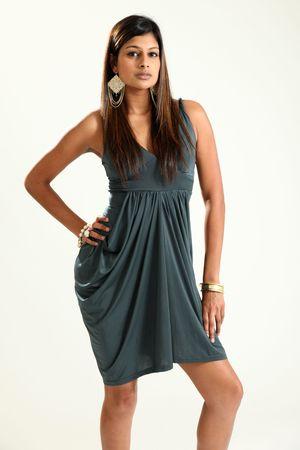 Beautiful Young Indian Woman in Studio Setting détourées Banque d'images - 4822974