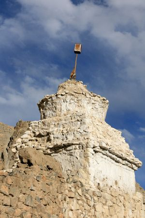gompa: Namgyal Tsemo Gompa - historic temple in Leh, India Stock Photo