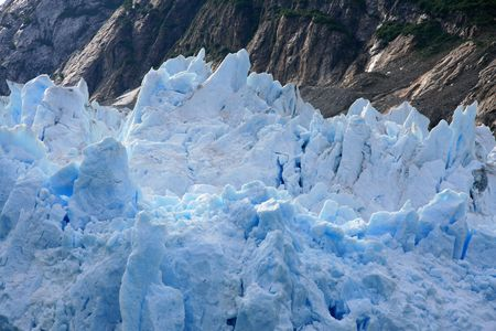 Glacier Bay Fjord - the icy waters of Alaska, USA photo