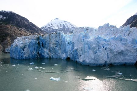 fjord: Glacier Bay Fjord - the icy waters of Alaska, USA