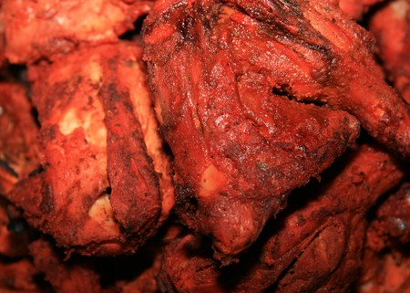 tradional: Tandoori Chicken freshly made in tradional way in Northern India