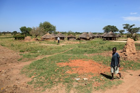 insurgents: Aketa Camp  Village in Eastern Uganda - The Pearl of Africa Stock Photo