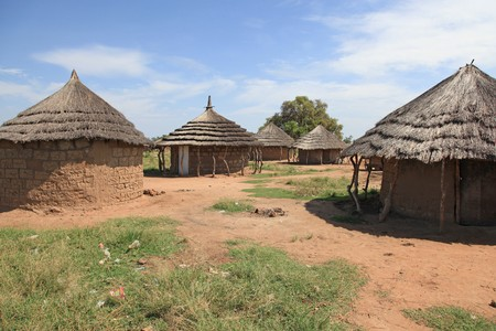 Aketa Camp  Village in Eastern Uganda - The Pearl of Africa Stock Photo