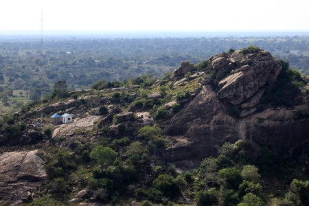 Rural Landscape View From Abela Rock in Katakwi, Uganda - The Pearl of Africa photo