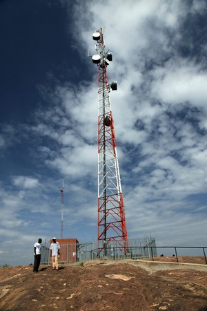 communications tower: Abela Rock in Katakwi, Uganda - The Pearl of Africa Stock Photo