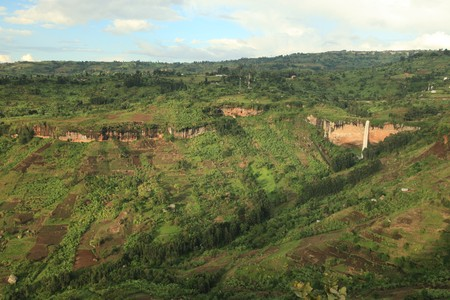 developing country: Sipi Falls in Uganda - The Pearl of Africa Stock Photo
