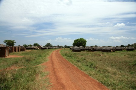 Small Rural Village in Uganda - The Pearl of Africa Stock Photo