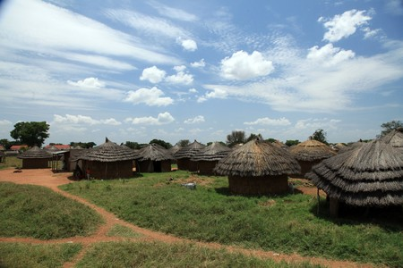 ugandan: Small Rural Village in Uganda - The Pearl of Africa Stock Photo