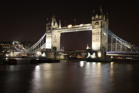 borough: London Tower Bridge At Night Stock Photo