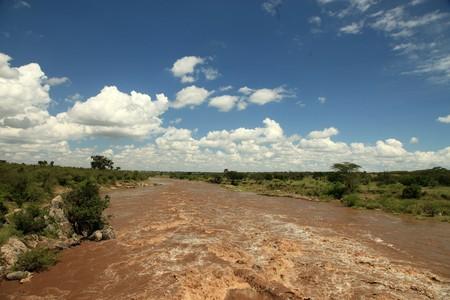 maasai mara: Mara River - Masai Mara National Park in Kenya, Africa  Archivio Fotografico