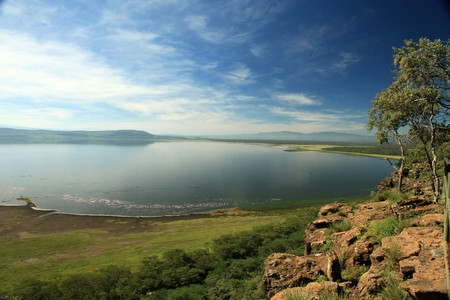 Lake Nukuru nationaal park in Kenia, Afrika
