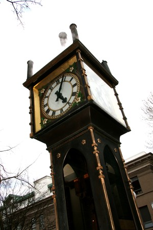 Steam Clock - Historic Gastown in Downtown Vancouver, BC, Canada photo