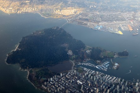 arial: Arial View of Vancouver, BC, Canada