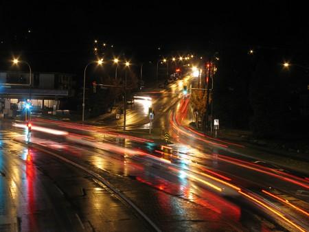 trails of lights: La citt� di Vancouver, BC, Canada