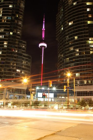 newage: The CN Tower in Toronto, Ontario, Canada Stock Photo