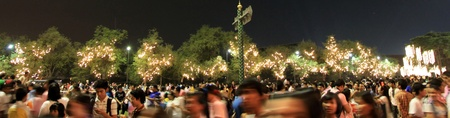 83rd: BANGKOK - DEC 5: Crowds Gather at Sanam Luang Park to Celebrate the Kings Birthday - Bangkok, Thailand 5th December 2010)