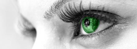 Green Eye - Beautiful, Feminine photo