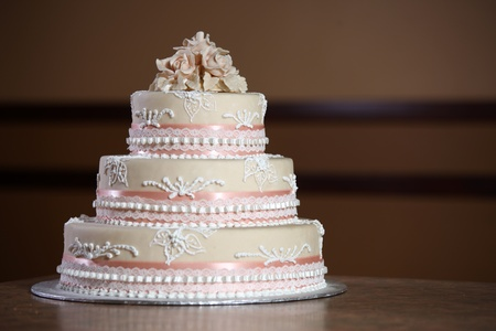 wedding cake: Wedding Cake - Luxury , Expensive Design Stock Photo